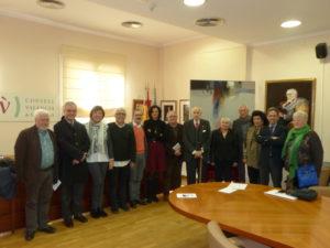 En la seu del Consell Valencia de Cultura, amb la presencia de bona part dels membres del Consell, s'ha fet un homenatge al pinto Ximo Michavila.